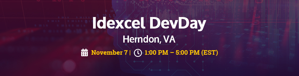Idexcel DevDay - Herndon, VA